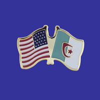 Algeria/USA Flag Pin