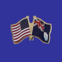 Anguilla/USA Flag Pin