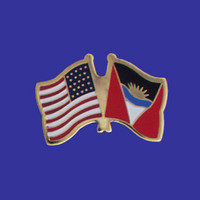 Antigua and Barbuda/USA Flag Pin