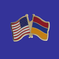 Armenia/USA Flag Pin