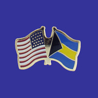 Bahamas/USA Flag Pin