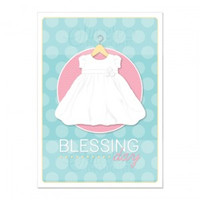 Baby Girl Blessing Day Card