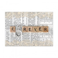 Forever with Wedding Rings Greeting Card