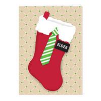 Elder Christmas Stocking Card