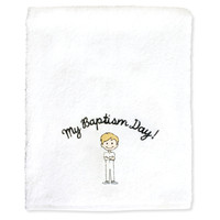 My Baptism Day Boy Towel Blonde