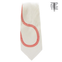 Boys Baseball Zipper Tie