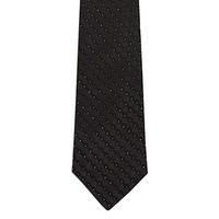 Black & Silver Skinny Tie