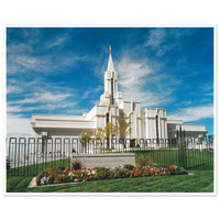 Bountiful Utah Day Temple Photo - 5x7