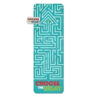 Choose the Right Maze Bookmark and Pin Set