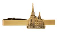 Brigham City Utah Temple Tie Bar Gold