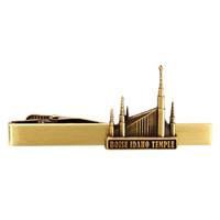 Boise Idaho Temple Tie Bar Gold