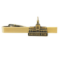 Bountiful Temple Tie Bar Gold