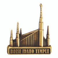 Boise Idaho Temple Pin Gold