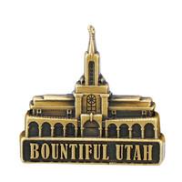 Bountiful Utah Temple Pin Gold