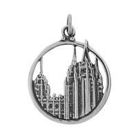 Salt Lake City Temple Charm (Round)