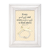 Baby Girl Blessing Gift with Bracelet Keepsake
