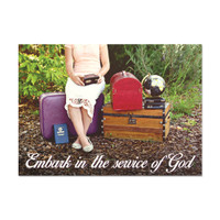 Embark in the Service of God Sister Missionary Card