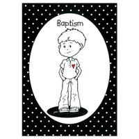 Black and White Baptism Boy