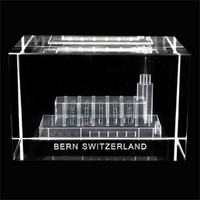 Bern Switzerland Temple Crystal Cube
