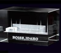 Boise Idaho Temple Crystal Cube