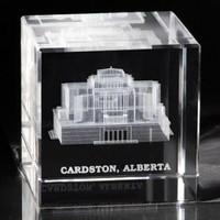 Cardston Alberta Temple Crystal Cube