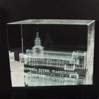 Columbia River Washington Temple Crystal Cube