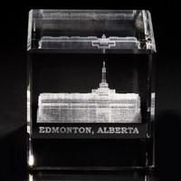 Edmonton Alberta Temple Crystal Cube