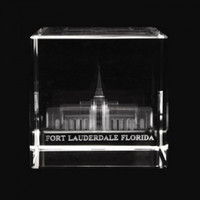 Fort Lauderdale Florida Temple Crystal Cube