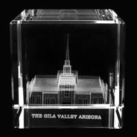 Gila Valley Arizona Temple Crystal Cube