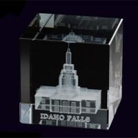 Idaho Falls Idaho Temple Crystal Cube