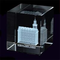 Kirtland Ohio Temple Crystal Cube