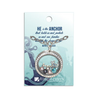 Anchor Charm Locket Necklace