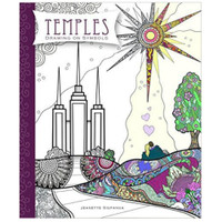 Drawing on Symbols: Temples Coloring Book