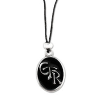 Black Oval CTR Necklace