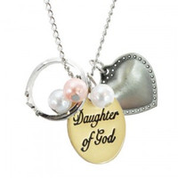Daughter of God Two Tone Necklace