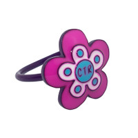 """Flower Power"" Pinch fit CTR Ring Adjustable"