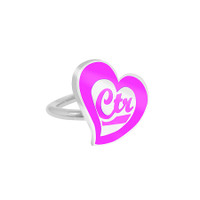 """CTR Love"" Pinch fit CTR Ring Adjustable"