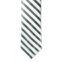 Boys' Silver & White CTR Necktie