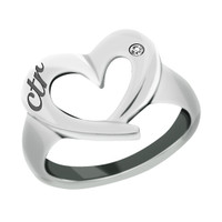 """CTR Love"" Heart CTR Stainless Steel Ring"