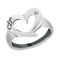 """CTR Love"" Heart CTR Stainless Steel Ring"