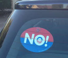 "Plastic Hanging Political Car Window Sign - Anti-Obama NObama ""NO!"" 4x6 Inch"