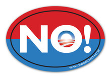 """NO!"" Anti-Obama NObama 4x6 Inch Political Bumper Sticker"