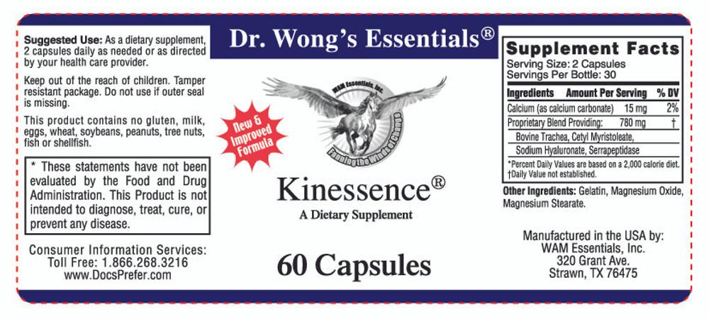Kinessence®: label information