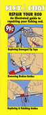 An illustrated guide to repairing your fishing rod. Flex Coat Repair Booklet