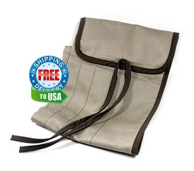 Lightweight poly-cotton cloth rod bag for bamboo 3pc 2tip fly rods.