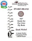 Snake Brand 'Universal' Dark Nickel Fly Rod Guide Sets