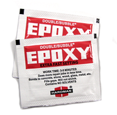 Hardman 'Extra-Fast' setting epoxy adhesive. Working time 3-5 minutes, strong & will not shrink. Hardman Epoxy Glue, 2pk
