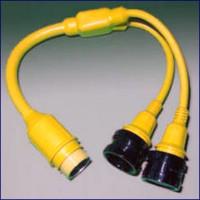 Marinco Y Adapter - 2-30A Locking to 50A Locking
