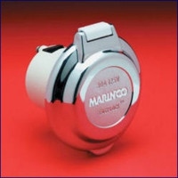 Marinco  Contoured Power Inlet - Chrome