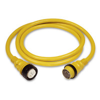 Marinco 50A 125/250V Power Cord Plus Cordset (4-Wire) with LED 50' yellow in box  6152SPP